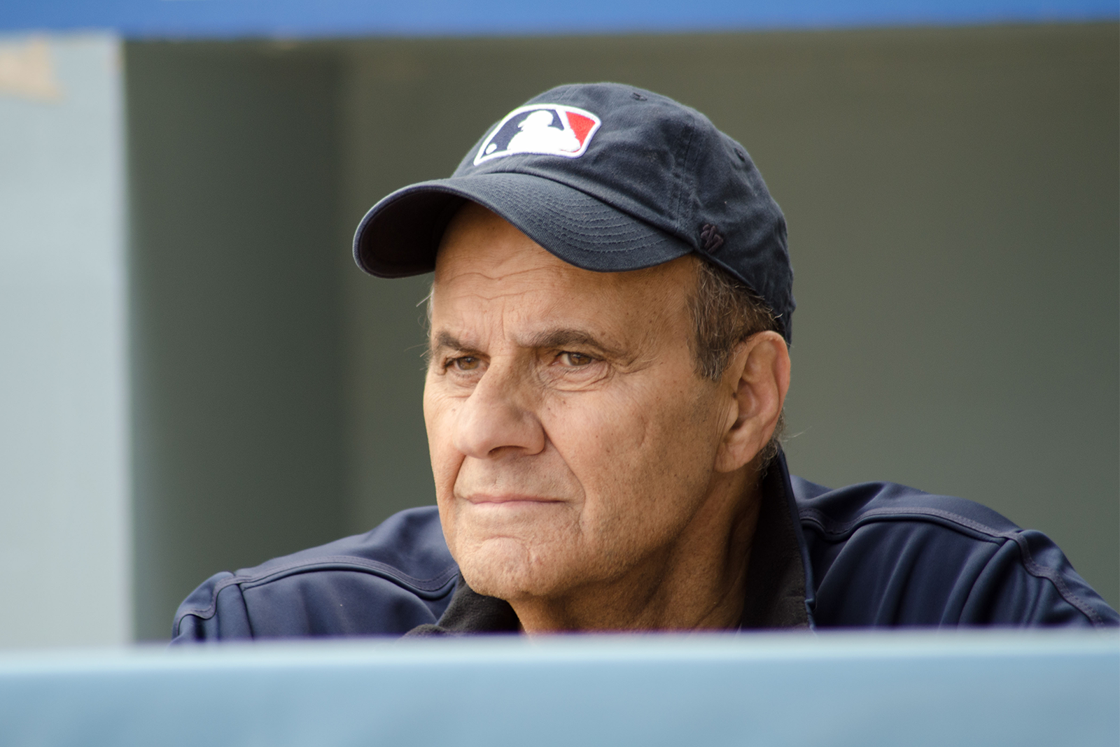candid photo of prostate cancer survivor and MLB Hall of Famer Joe Torre during prostate cancer PSA video shoot
